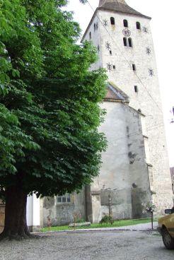 Biserica Reformata, vedere din interiorul cetatii