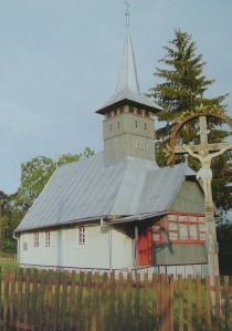 Dealul Corbului wooden church general view