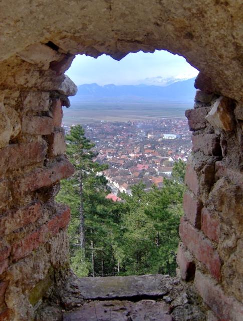 Vedere asupra orasului din cetate