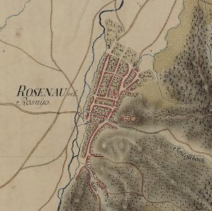 Cetatea Rasnov in Harta Iosefina a Transilvaniei