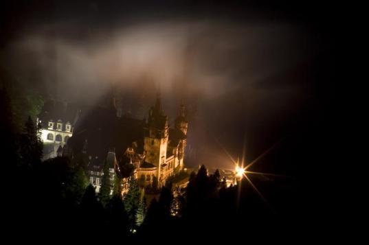Peles Castle in the night