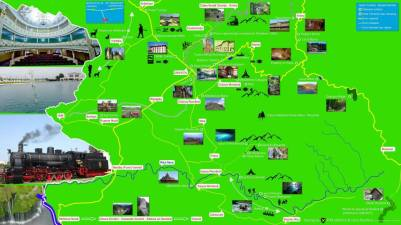 Harta turistica a zonei Oravita