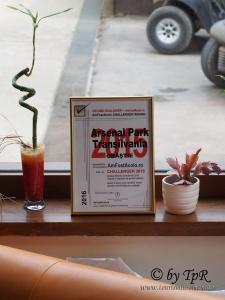 Diploma Challenger pentru Arsenal Park Transilvania