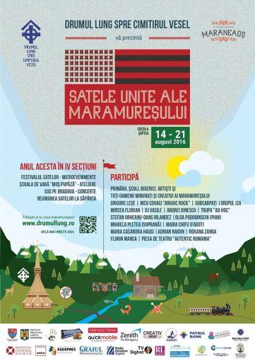 Drumul Lung spre Cimitirul Vesel prezintă festivalul Satele Unite ale Maramureșului editia a 7-a -14 -21 august 2016