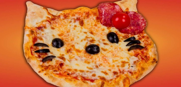 pizza hello kitty